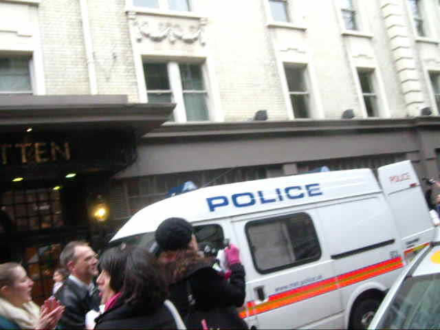 Christopher Osmond and Jessica Nero being led away from Ahava on 22nd Nov. 2010