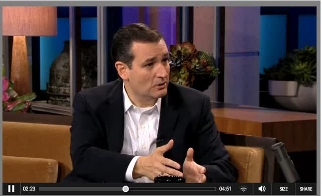 A DELUDED TED CRUZ IS NOT IN TOUCH WITH HIS ROLE IN GOVT SHUTDOWN
