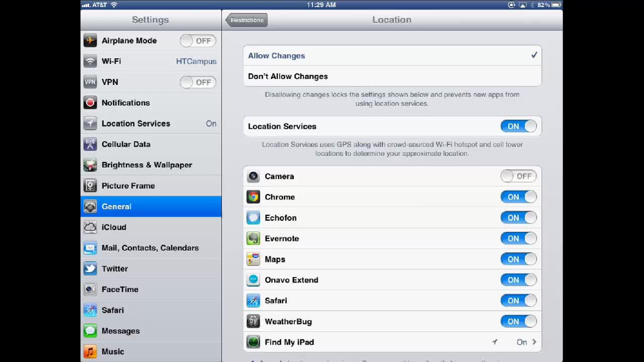 How to Set up iPad restrictions