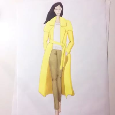 rae's days fashion illustration of ralph lauren