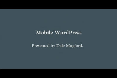 WC Toronto 2011 &#8211; Mobile WordPress
