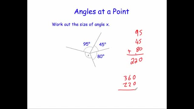 Angles at a point