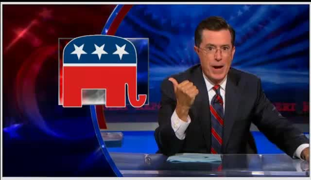 Colbert Report Stephen Colbert on Candidate – none of the above