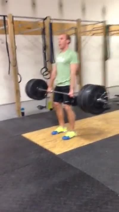 Hang Power Clean – 255#