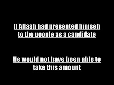 Refuting Yusuf al Qaradhawi If Allaah was a candidate He would not have been able to take this amount