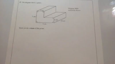 Volume of a L-Shape Prism