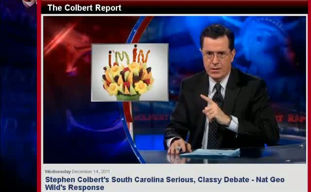 Comedy Central The Colbert Report South Carolina Serious Classy Debate – NatGeo Wild Response