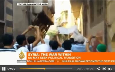 SYRIAN FORCES RENEW ALEPPO ASSAULT 07-27-12