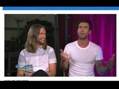 Access Hollywood Adam Levine James Valentine 19October2012