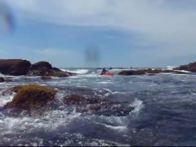 Through the gap (video by John Ozard)