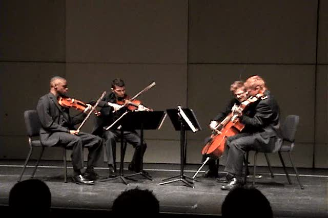 Emerald Quartet Bartok at Fischoff – partial