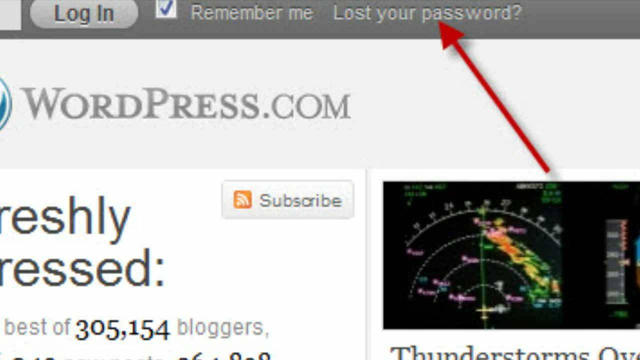WordPress.com: Recovering &amp; Changing Your Password
