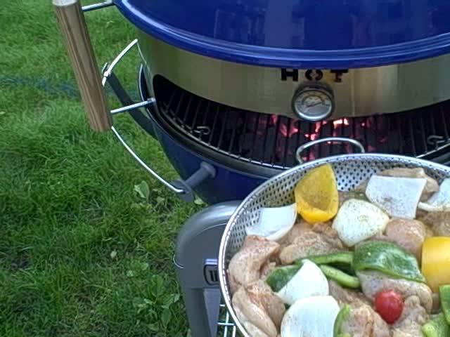 The KettlePizza DoubleStack – Chicken & Veggies