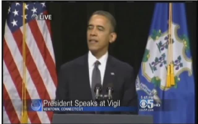President Obama Speaks at Vigil in Newtown, CT