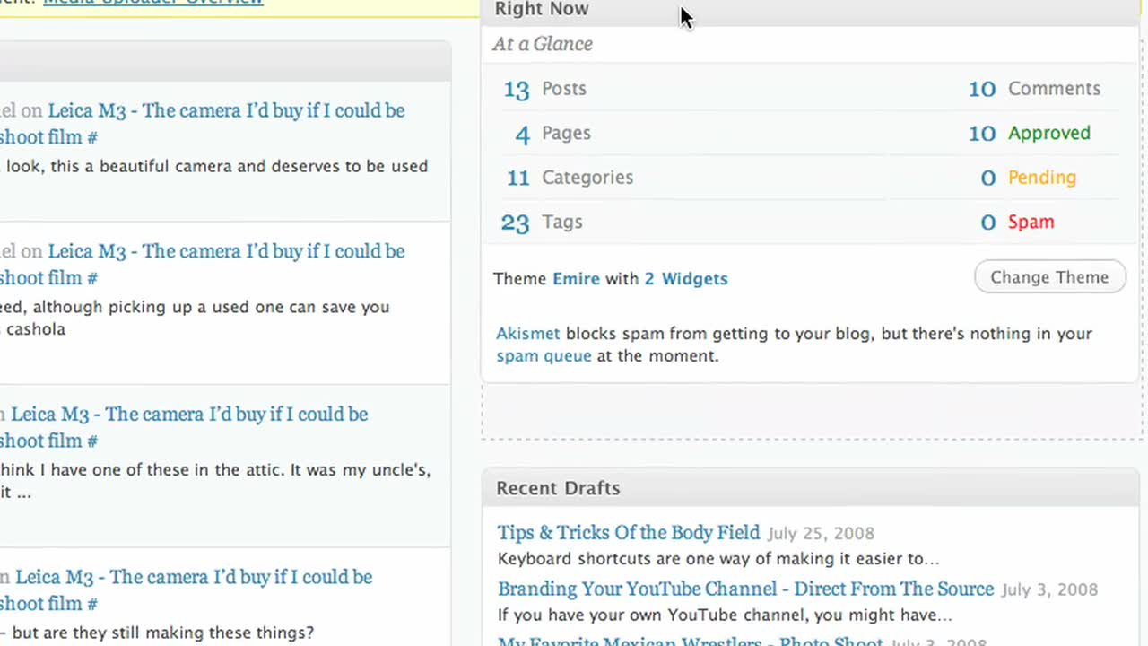 Introduction to the WordPress.com dashboard