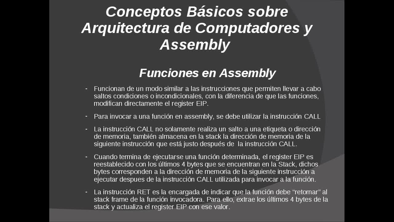 Explotación de Software Parte 8 – Bucles y Funciones en Assembly
