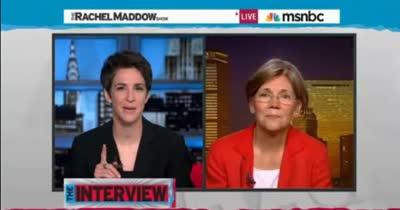 TRMS Interview with Elizabeth Warren