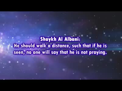 How far should I walk to a sutrah – Shaykh al-Albaani