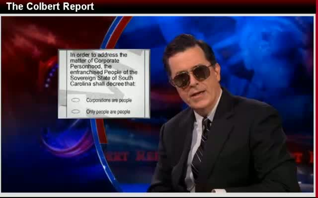Comedy Central The Colbert Report Stephen Colbert SC GOP Primary 12-07-11