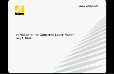 Laser Radar Webinar 070710