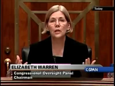 Elizabeth Warren   Classic Takedown of Geithner Over TARP Bailout (from 2009) –  MUST SEE !!!