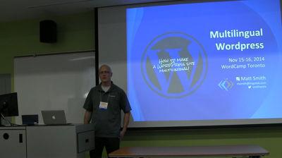 Matt Smith: Multilingual WordPress