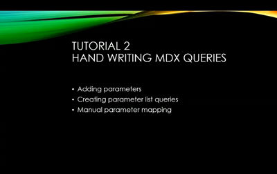 SSRS with MDX Tutorial 2
