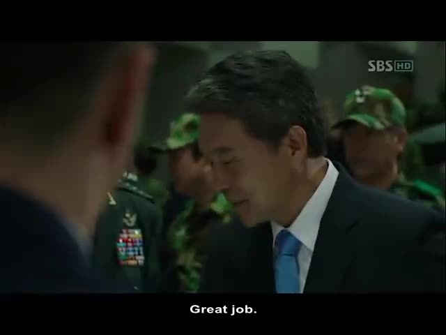 City Hunter – The General Lets an official (Now President) know he knows