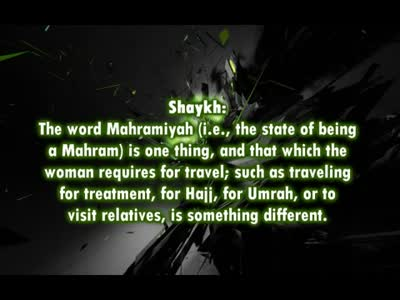 Is my thirteen year old son a mahram for me to travel with ? – Shaykh Ubaid