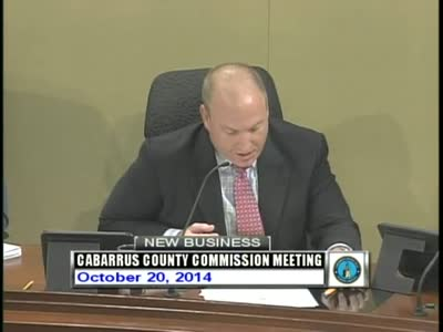 Cabarrus County Commissioners Mtg 10.20.2014 Part 2