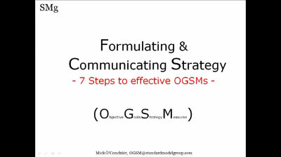 Creating an OGSM in 7 steps