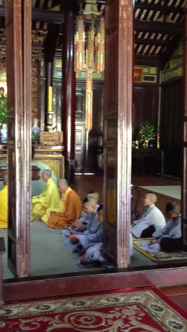 Monks in Hue, Vietnam