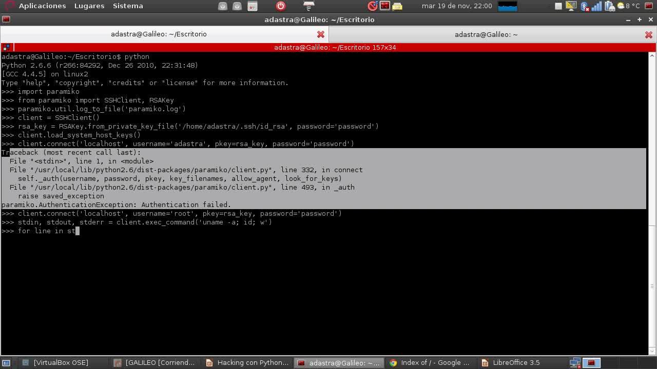 Hacking con Python Parte 20 – Controlando servidores SSH con Paramiko