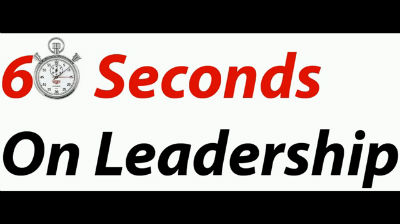 60 Seconds On Leadership – Bob Lank on Success
