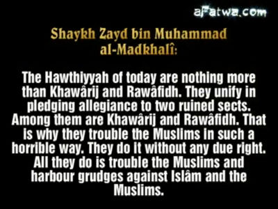 Hawthiyyah (Houthis), a mixture between Khawaarij and Rawaafidh – Sh Zayd al-Madkhali