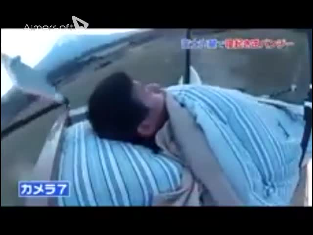 Sleeping man is is launched 50 metres into outrageous Japanese prank_640x480 copy