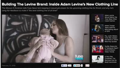 Building the Adam Levine Brand – Fuse 1st March 2013