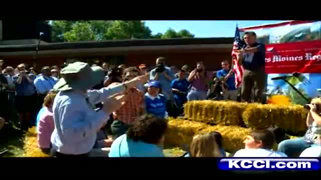 Romney Answers Heated Questions At State Fair – YouTube
