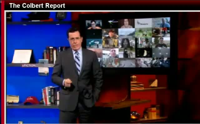 Comedy Central The Colbert Report Stephen Colbert Anderson Cooper 112811