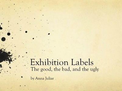 Exhibition Labels