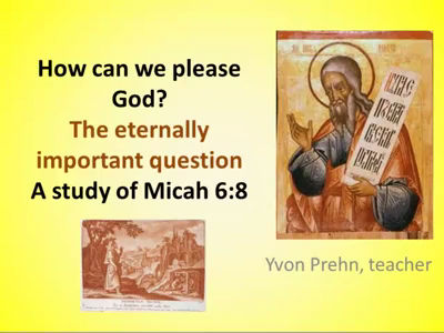 Micah 6 8 How can we please God