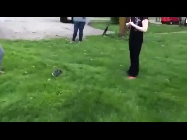 Girl Gets Hit With A Shovel ( Full Fight Video )