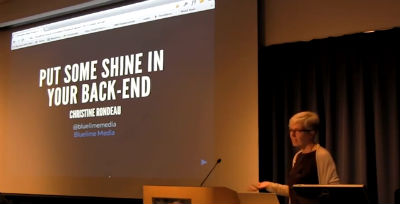 Christine Rondeau: Put Some Shine In Your Back-End