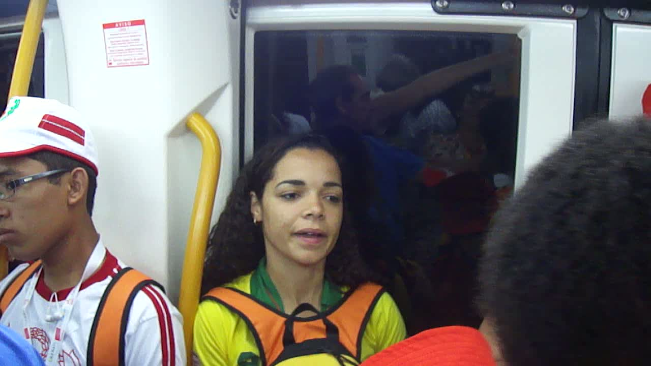 Brazilians in the metro in Madrid