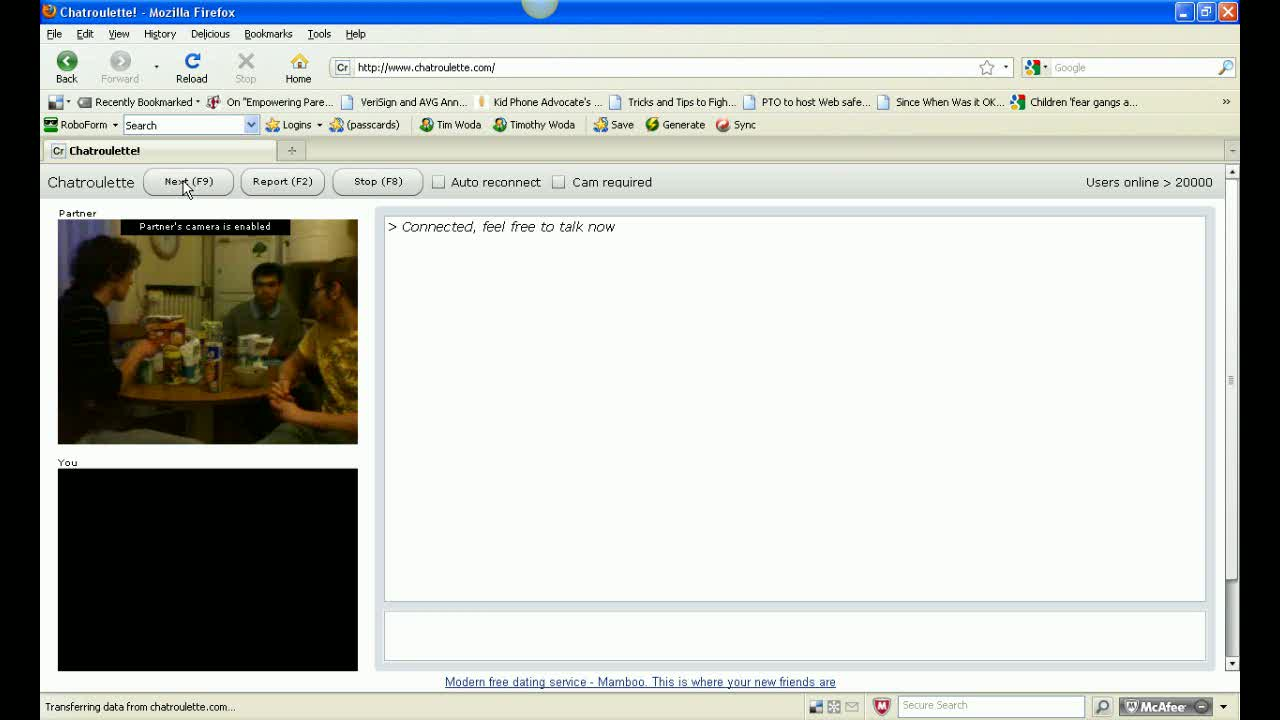 Live Chatroulette Video