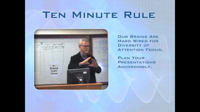 10 Minute Attention Rule lecture at U.F.