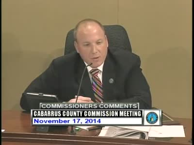 Cabarrus County Commissioners Mtg 11.17.2014