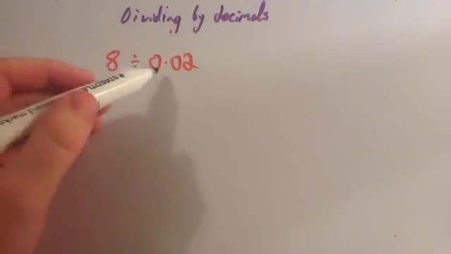 Dividing by Decimals