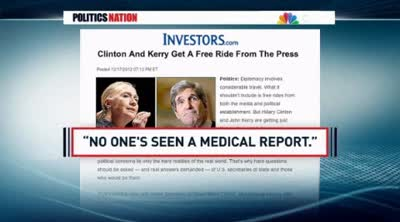 PoliticsNation  Right searching for scandal in Clinton's illness