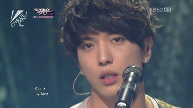 """""""아직 사랑한다"""" (공동작곡/작사 정용화) 2012.03.30 KBS Music Bank"""